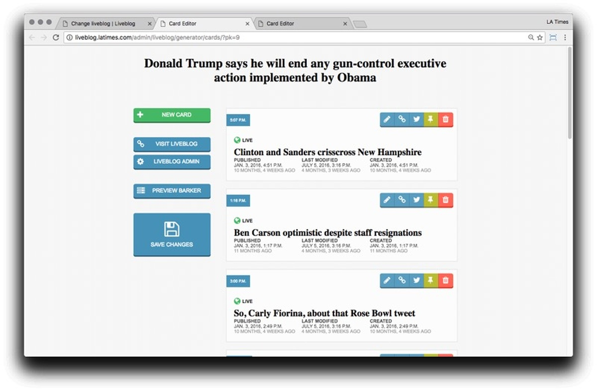How The Los Angeles Times Transformed Its Publishing Tools With A Ux Diagram Examples For Web Application Statechart Design Approach Features Source An Opennews Project