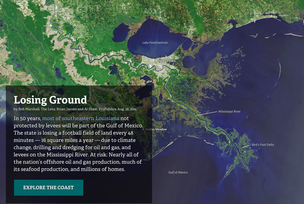 How We Made Losing Ground Features Source An OpenNews Project - Map us laatitude shaw land