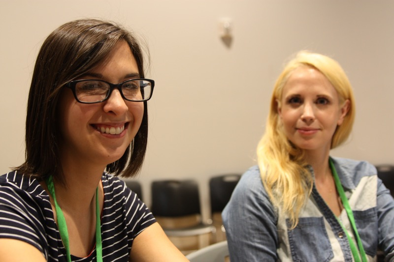 Photo of Katie Jansen and Zara Stone