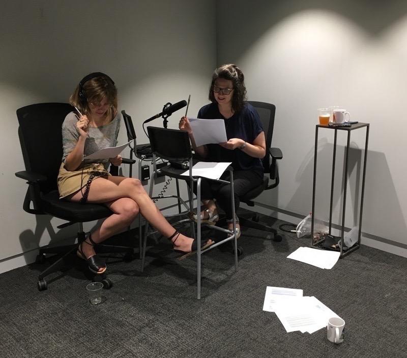 Photo of recording process