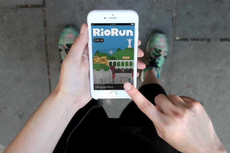 The app in use on a smartphone