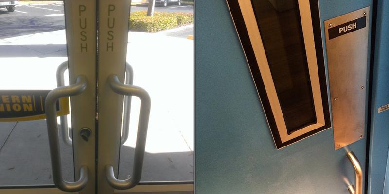 Two photos of doorways