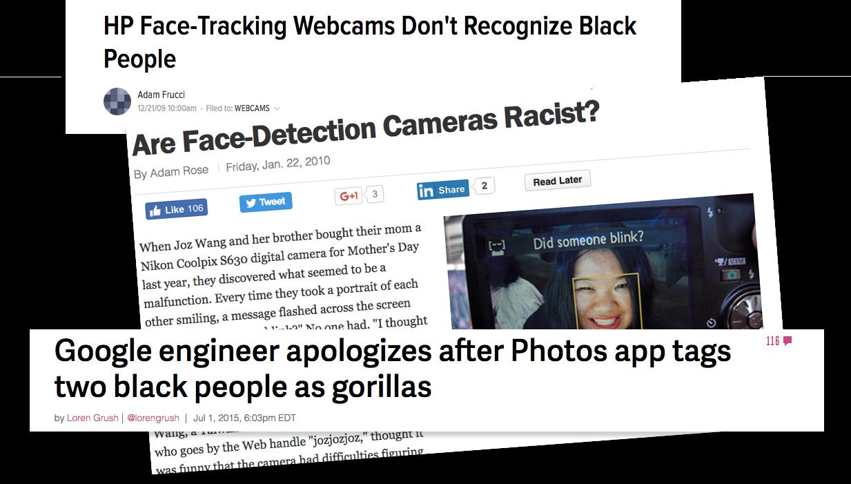 Screenshot of headlines