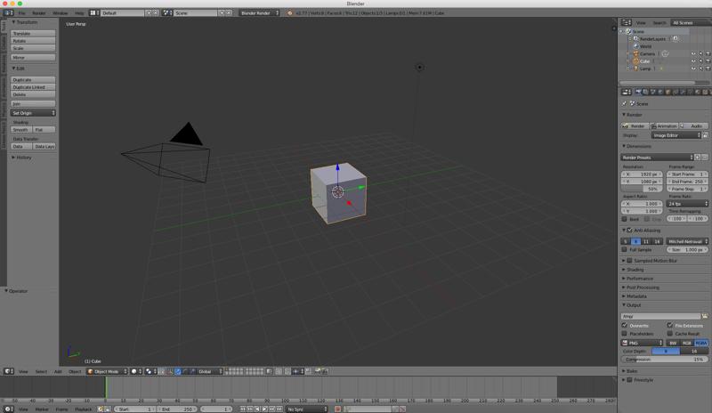 Blender project screen shot