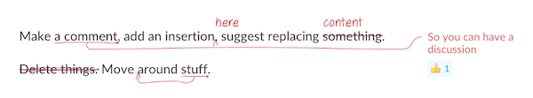 Image of annotated text