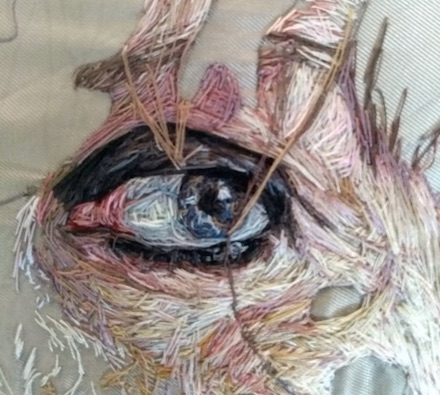 Embroidery of an eye