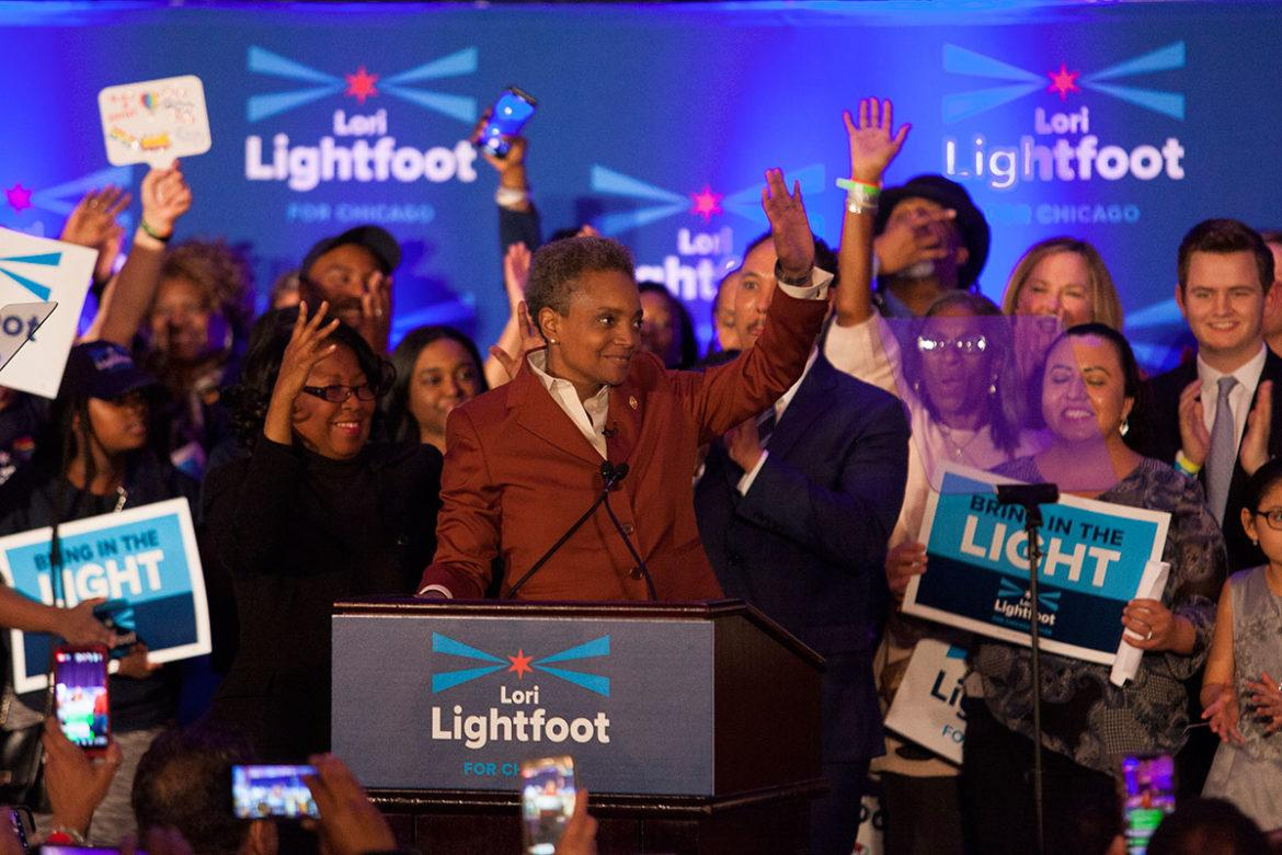 Photo of winning mayoral candidate Lori Lightfoot