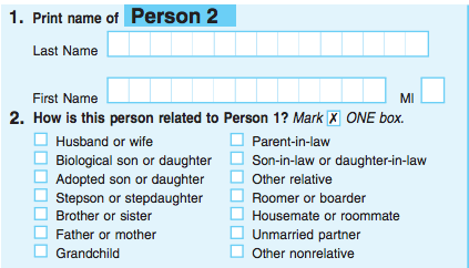census form for 2010