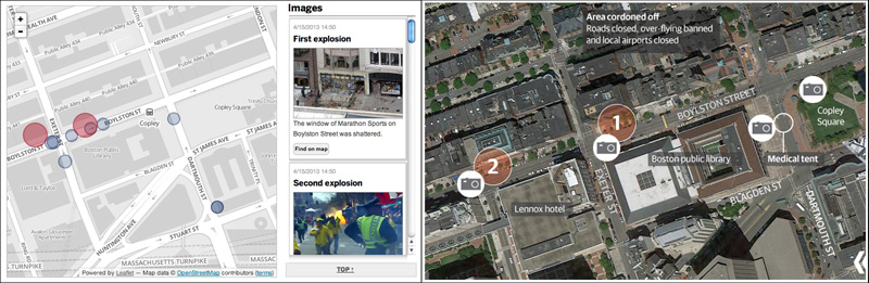 The Boston Globe and Guardian maps