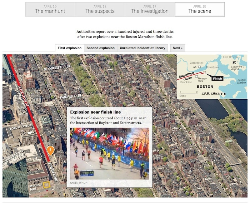 Diagram of explosion site from the Washington Post