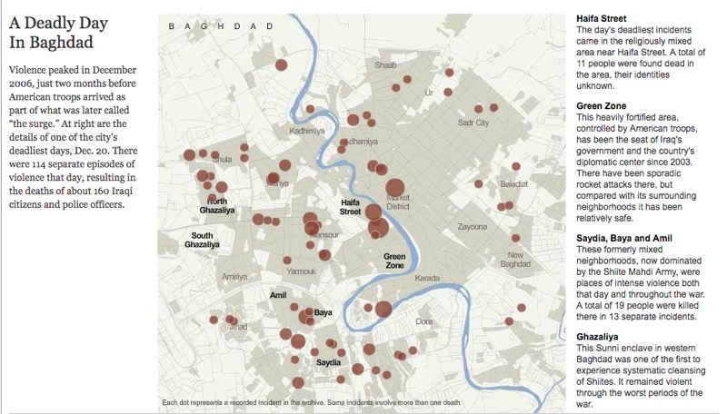 NYT interactive on deaths in Baghdad