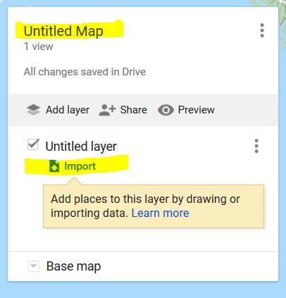 a screenshot of the 'create a new' map menu