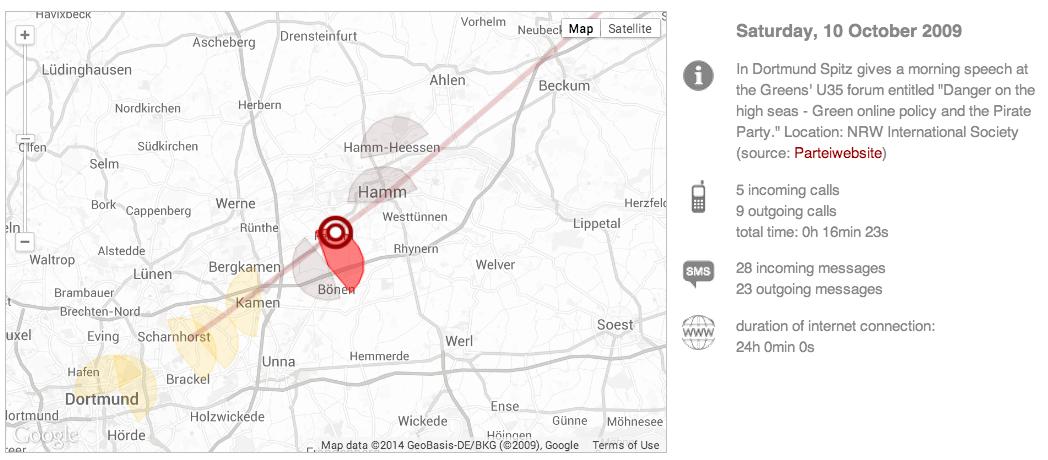 Malte Spitz map